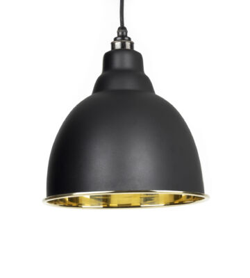From The Anvil Black & Smooth Brass Brindley Pendant