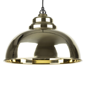 From The Anvil Smooth Brass Interior Harborne Pendant