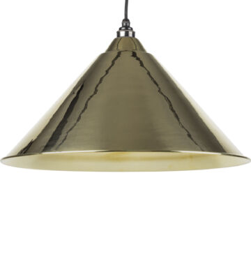 From The Anvil Smooth Brass Interior Hockley Pendant