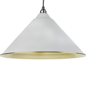 From The Anvil Light Grey & Smooth Brass Hockley Pendant