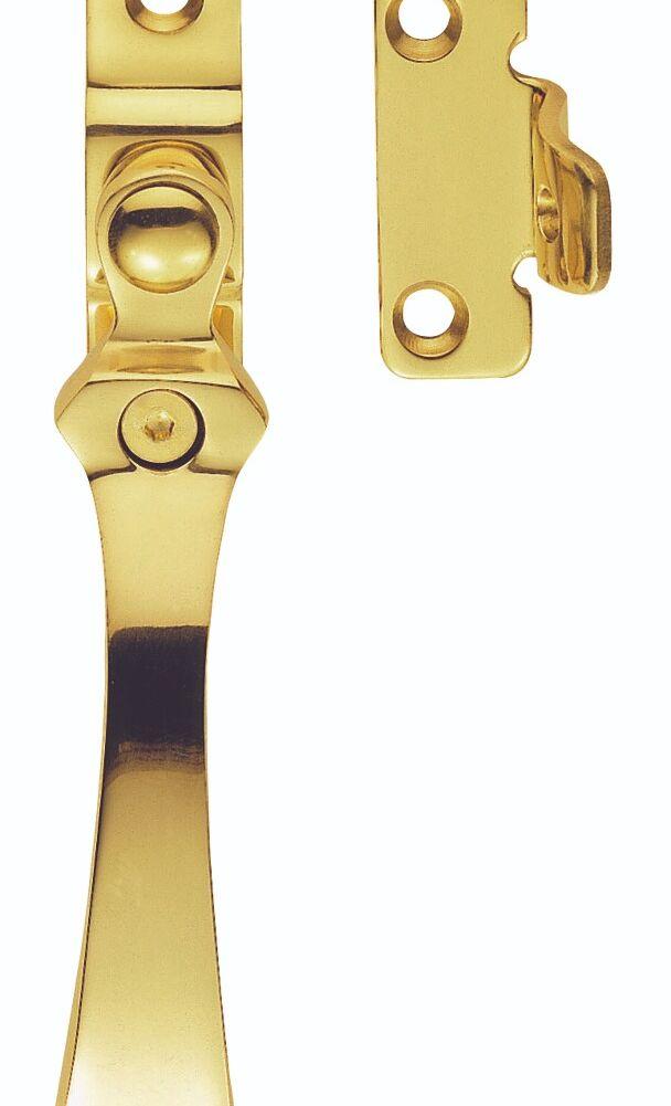 CARLISLE BRASS V1005LCK/BP VICTORIAN CASEMENT FASTENER - WEDGE PATTERN LOCKABLE 58MM X 11MM