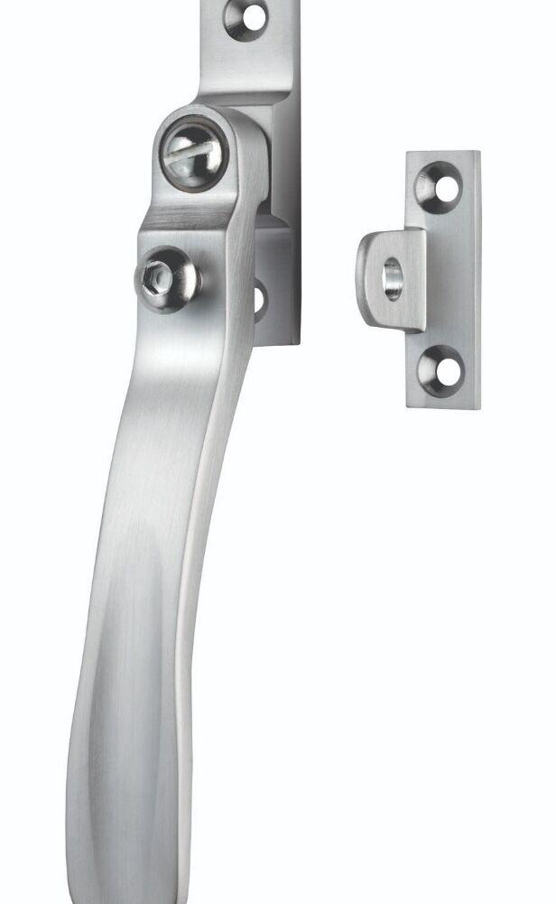 CARLISLE BRASS V1006LCKSC VICTORIAN - CASEMENT FASTENER WEDGE PATTERN - LOCKABLE SUITABLE FOR WEATHER STRIPPED WINDOWS 57MM X 13MM